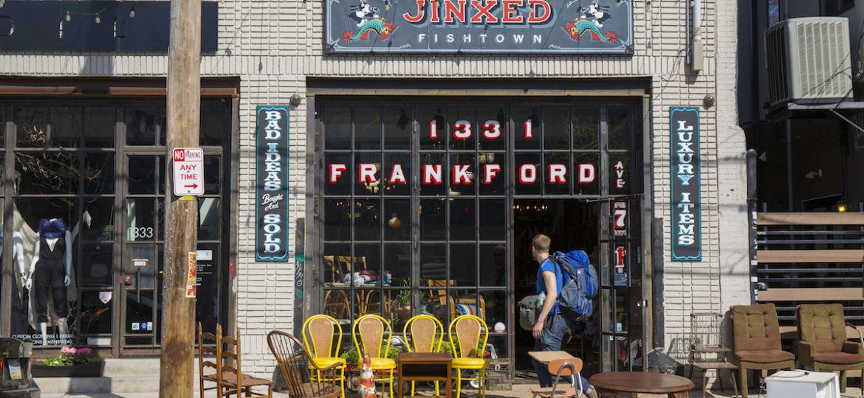 Exterior of local small business in Fishtown, Philadelphia