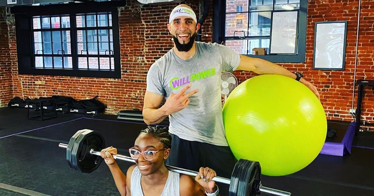 Trainer and client at Willpower Gym